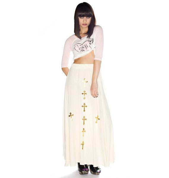 Wildfox Couture Romeo and Juliet Black Bird Skirt