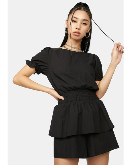Found Treasures Puff Sleeves Romper