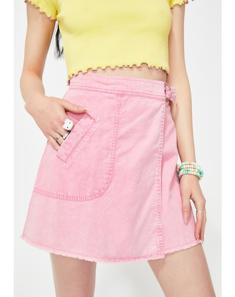 Pink Thank U Next Mini Skirt