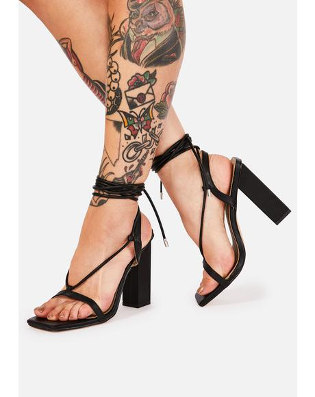 She's Scandalous Wrap Heels
