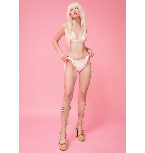 Sugar Thrillz Art In Bloom Floral Bikini Set