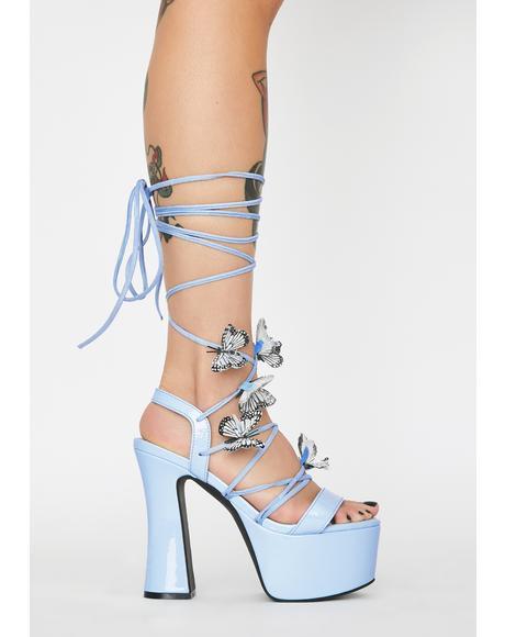 Sky Pixie Queen Lace-Up Heels