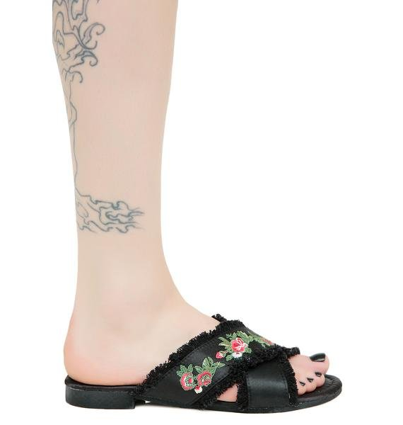 Nature Walk Embroidered Sandals