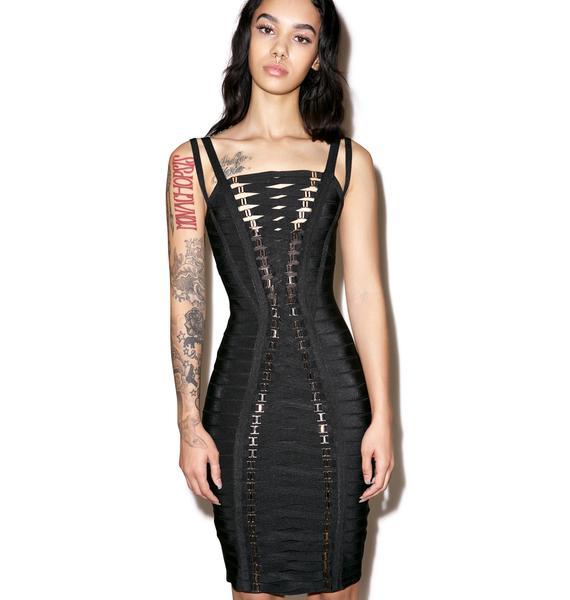 Thotful Lace Up Dress