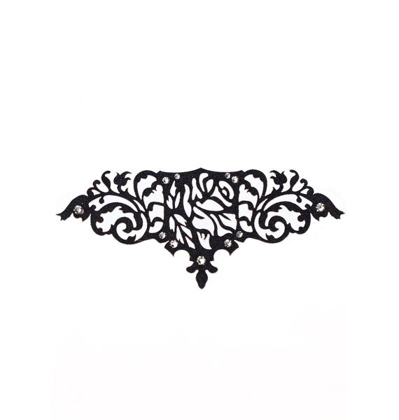 Black Lace Skin Jewelry Romantic Body Jewelry