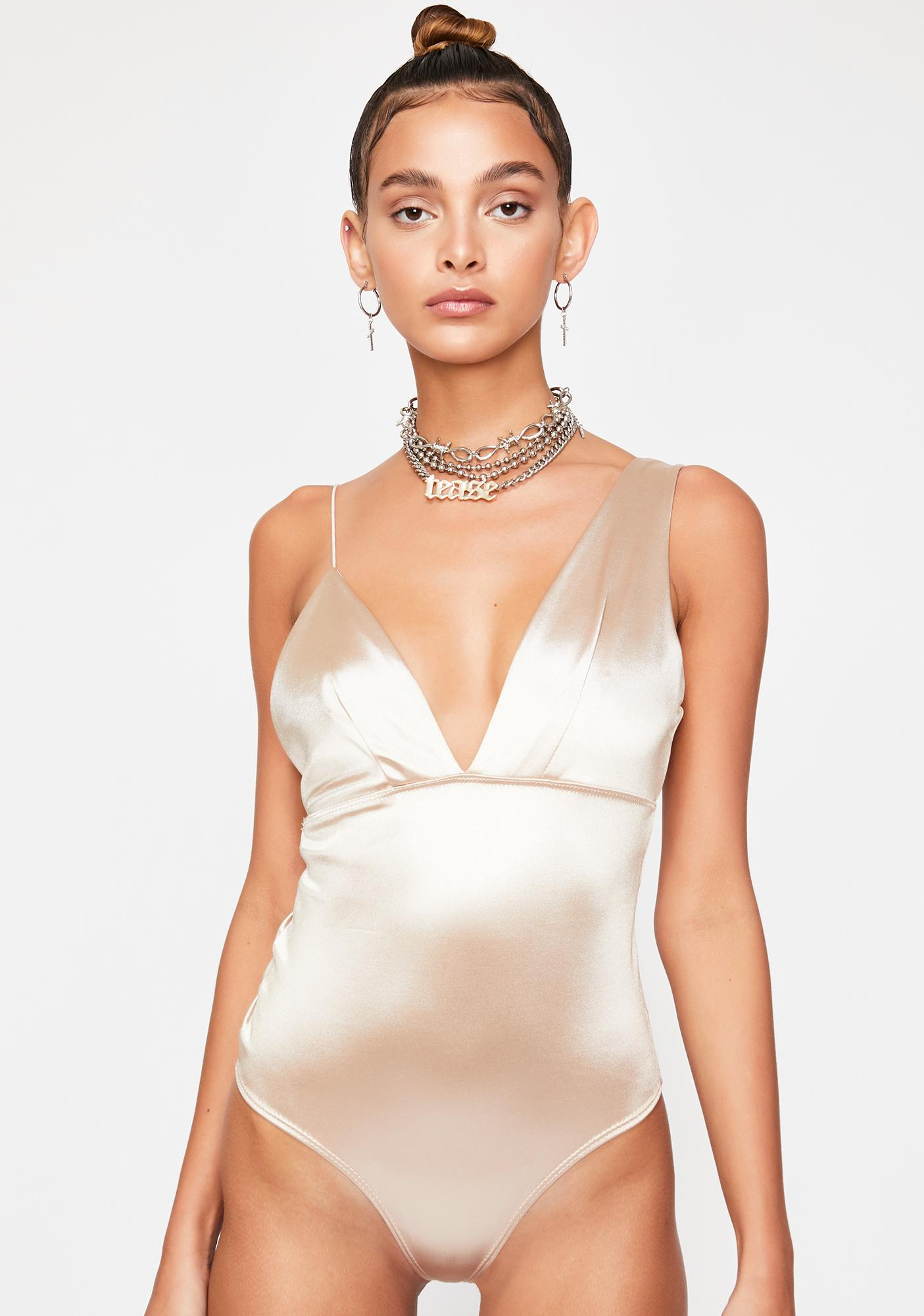 Secret Affair Asymmetrical Bodysuit