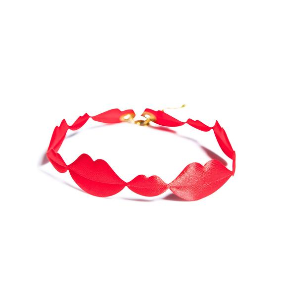 Suzywan Deluxe Sealed With A Kiss Choker