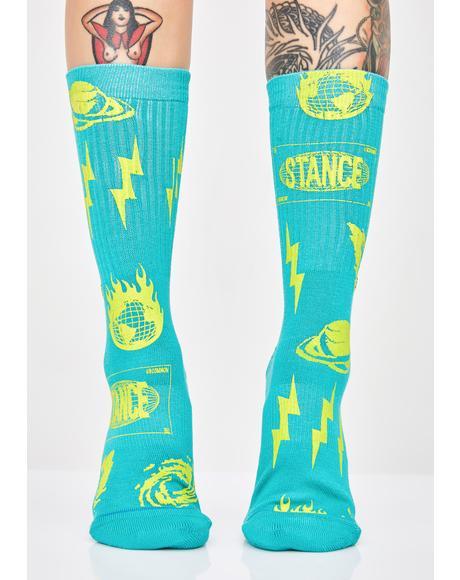 Meteorite Crew Socks