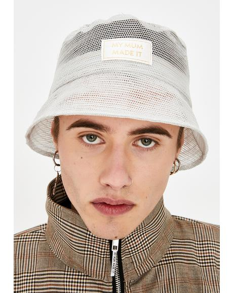 Grey Mesh Bucket Hat