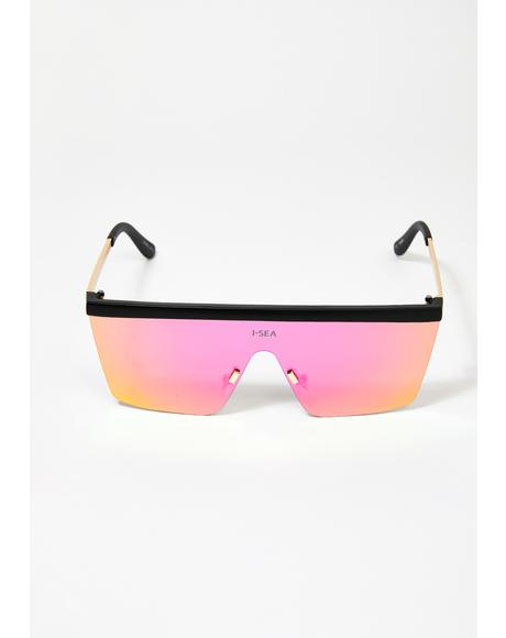 Purple Phoenix Shield Sunglasses