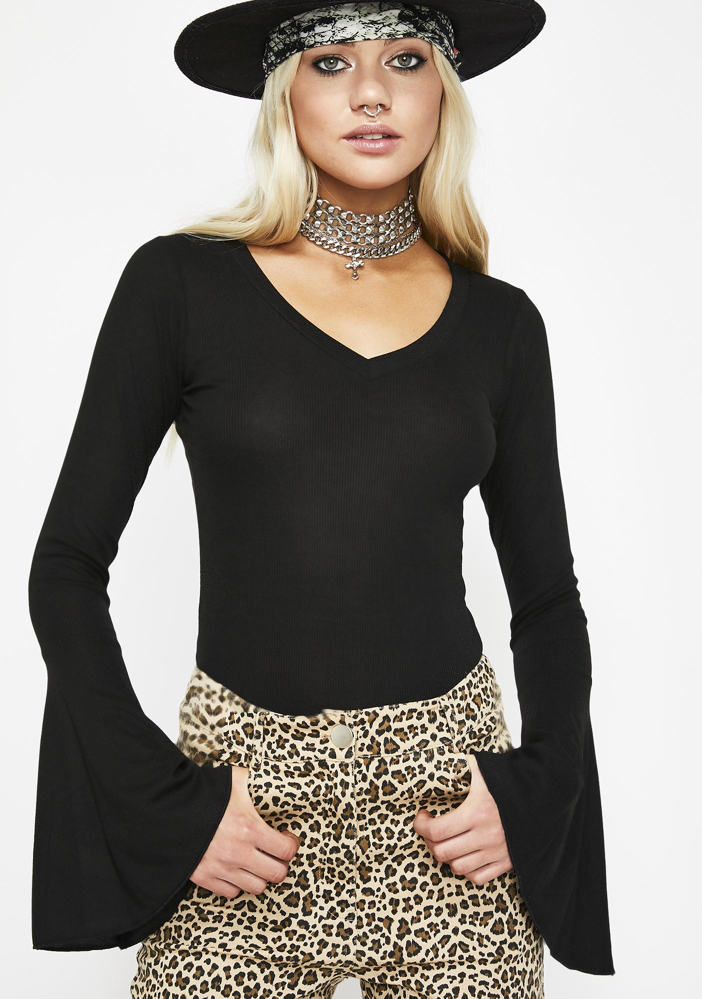 Bombshell Squad Bell Sleeve Top