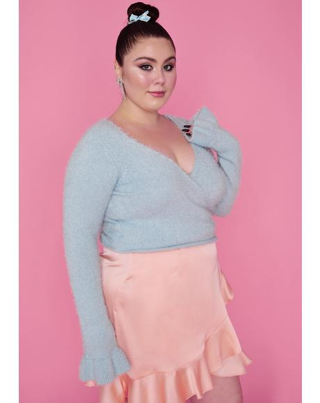 Aqua Gotta Cherish My Love Wrap Sweater