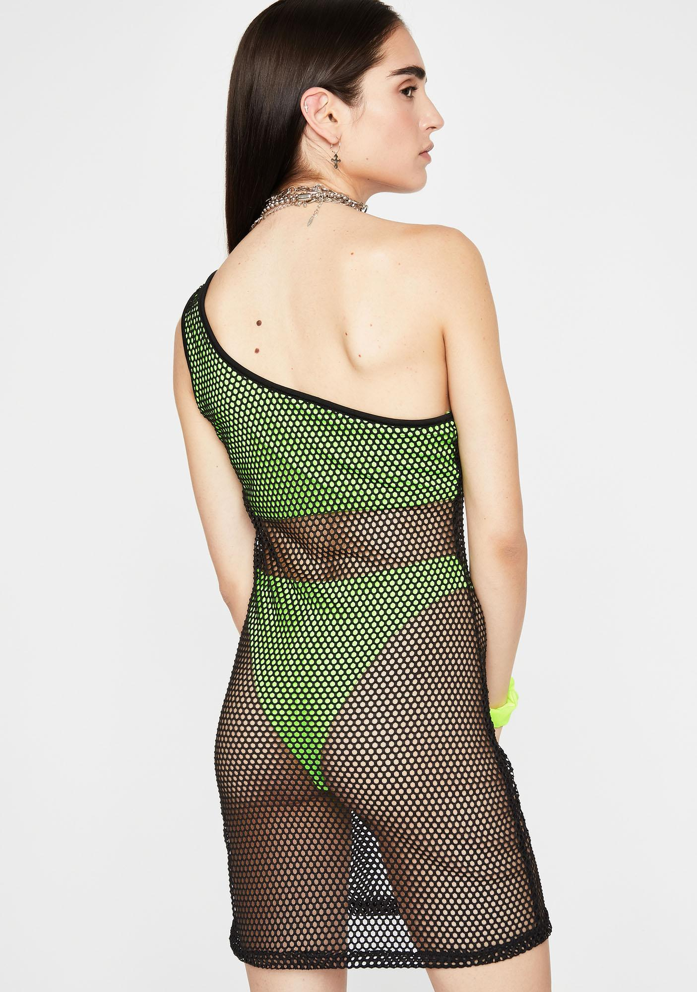 Dank Viral Vibez Fishnet Dress