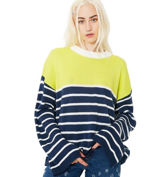 How Rude Colorblock Sweater