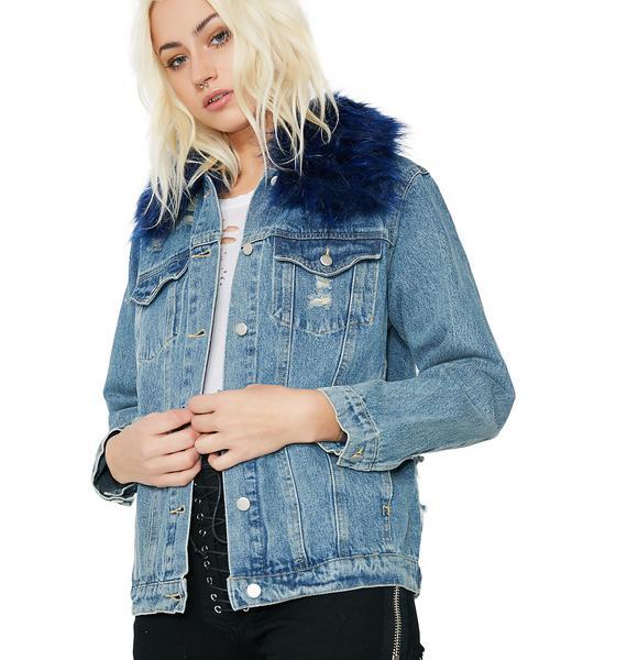 Furever Ironic Denim Jacket