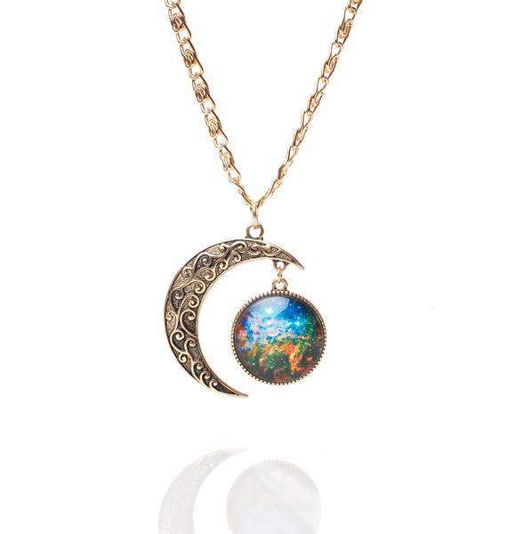 Moon N Galaxy Necklace