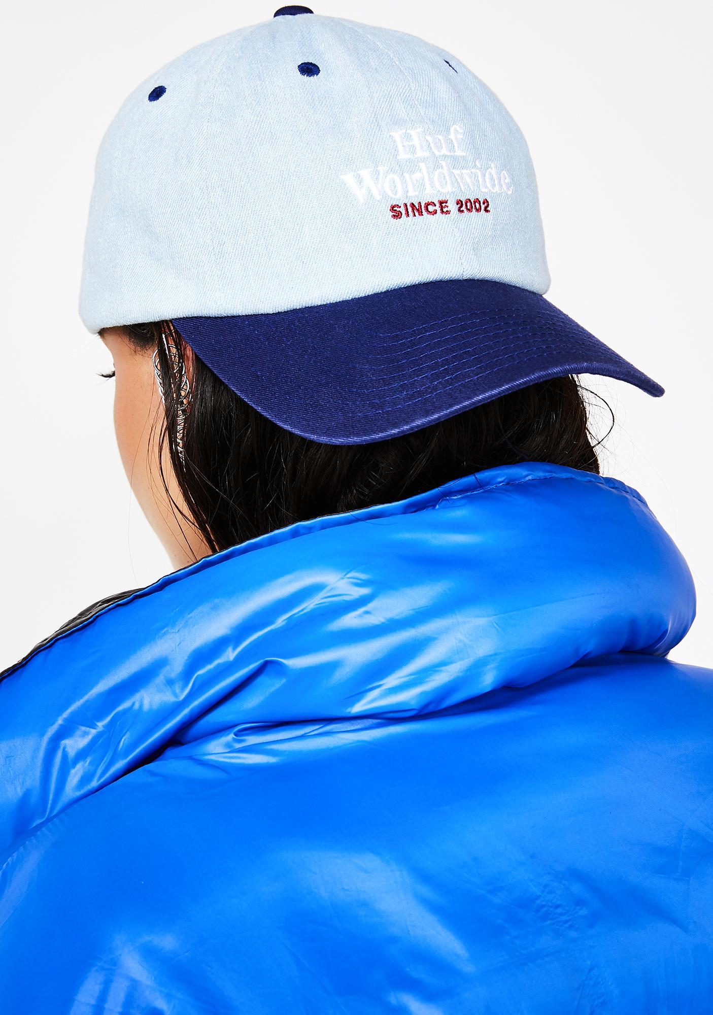 HUF Worldwide Denim 6 Panel Hat