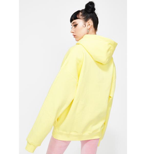 Criminal Damage Yellow Oversized Hoodie