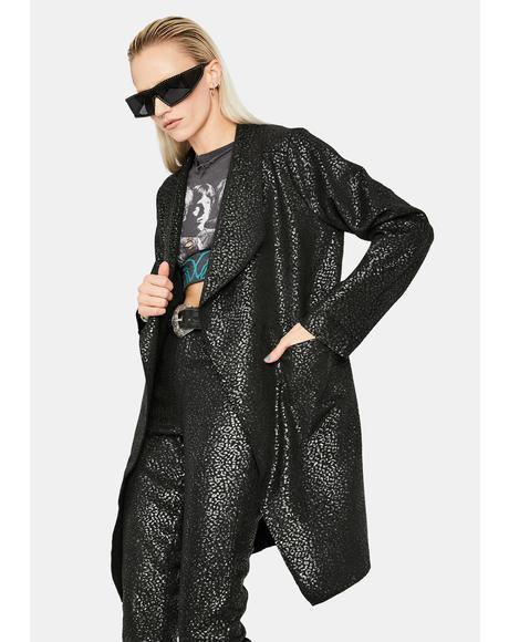 Stunning in Scuba Suede Blazer Coat