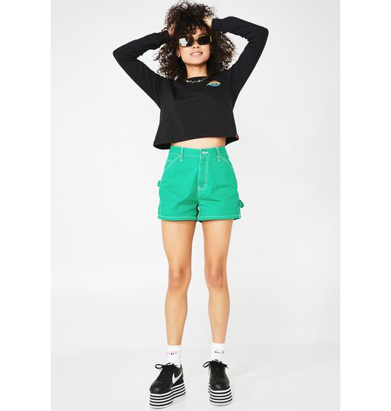 Dickies Girl Dank High Rise Carpenter Shorts