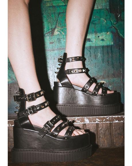 Go Berzerk Platform Sandals