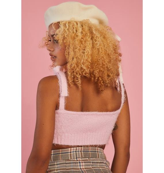 Sugar Thrillz Longing For You Fuzzy Tank Top