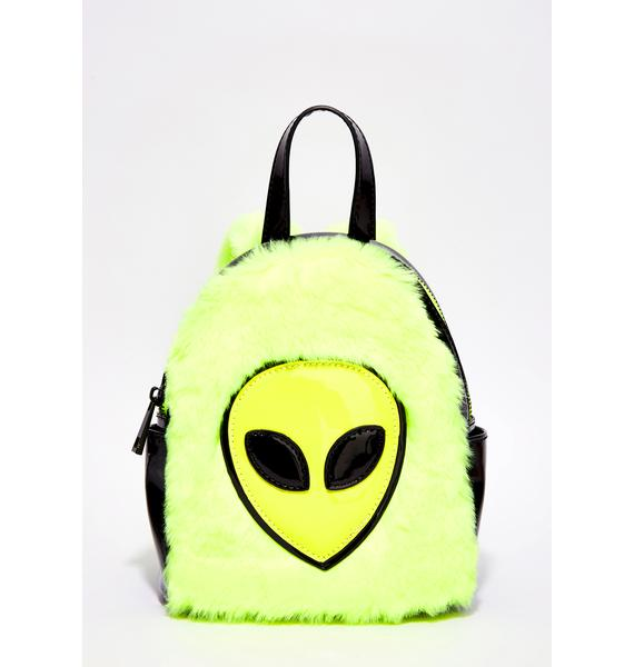Current Mood Faux Real Alien Mini Backpack