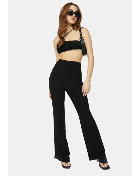 Keep It Going Ruched Wide Leg Pants