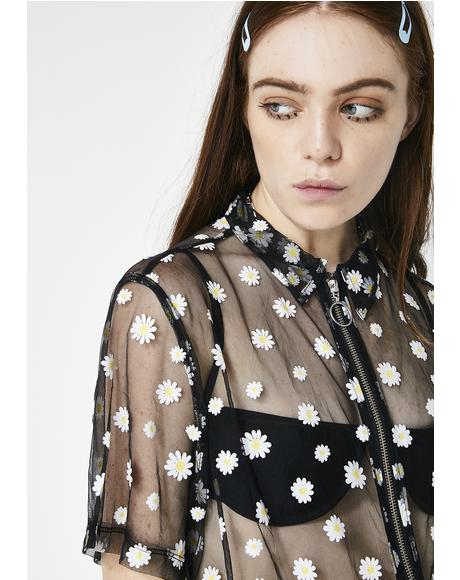 Sheer Daisy Shirt