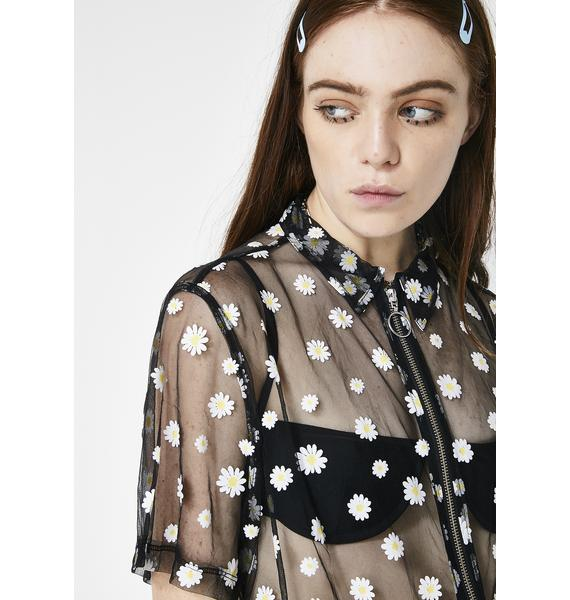 Lazy Oaf Sheer Daisy Shirt
