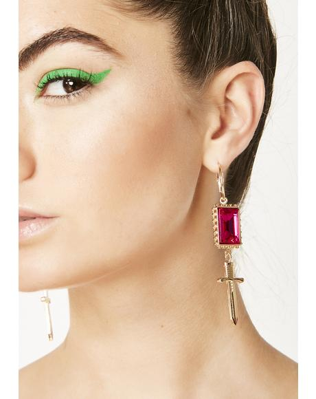 Naughty Nostalgia Dagger Earrings
