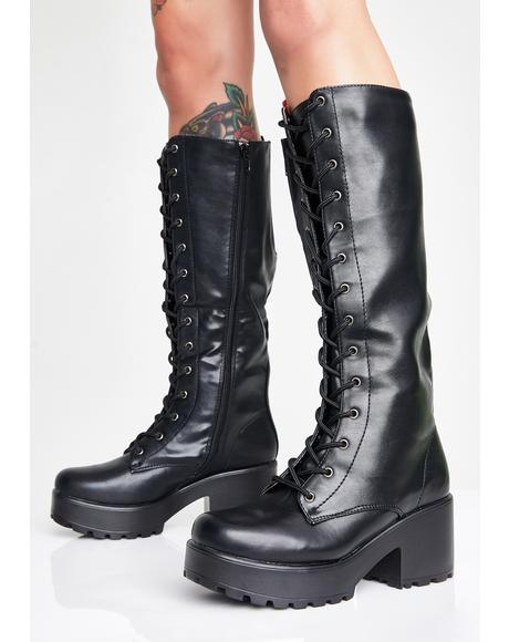Sektor Chunky Knee High Boots