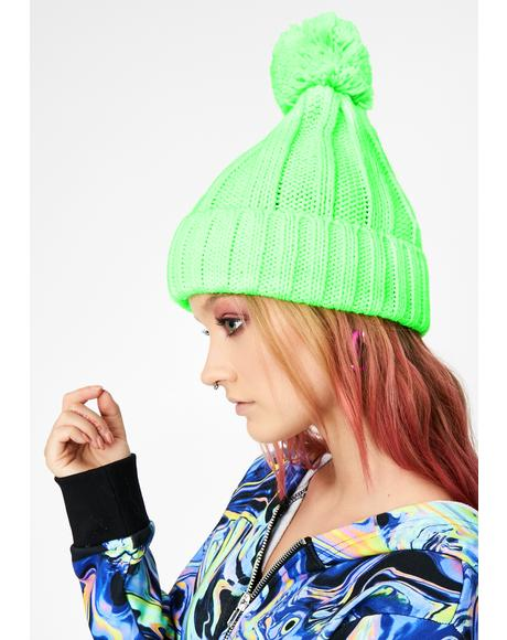 Atomic Chill Mode Pom Pom Beanie