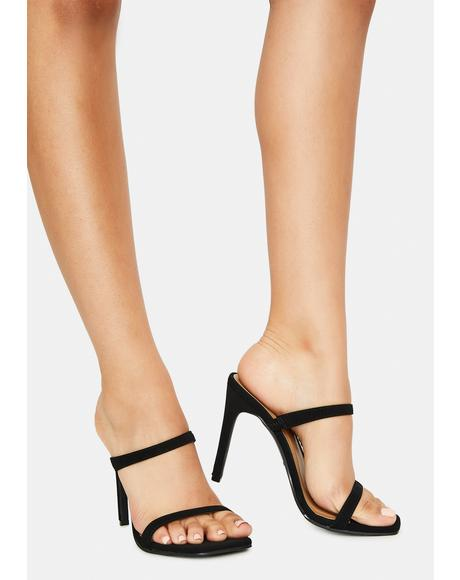 Night Just Walk Away Strappy Heels