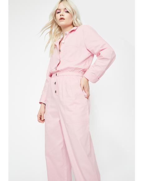 Pixie Werk It Out Collared Jumpsuit