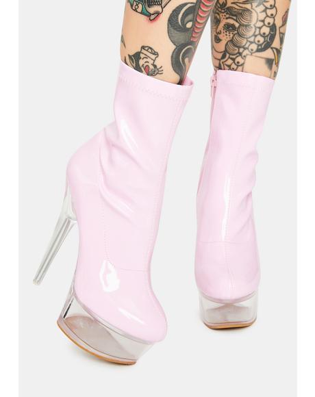Pink Patent Kyky Platform Heels