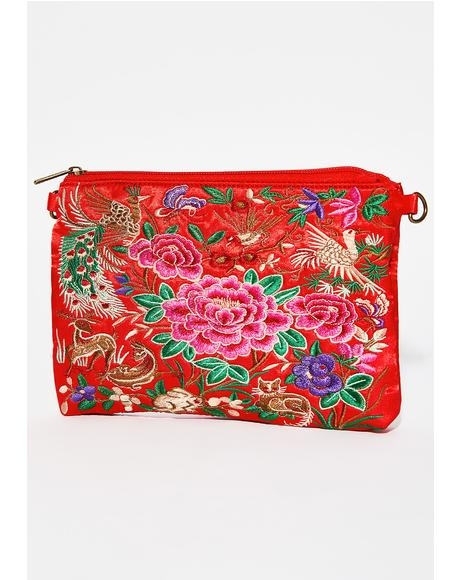 Cherry Precious Secrets Crossbody Bag