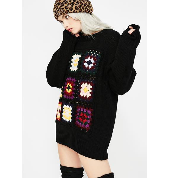 Thru The Woods Crochet Sweater