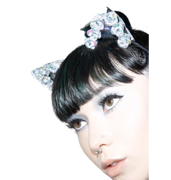 BrittsBlossoms Iridescent Hologram Kitty Ears