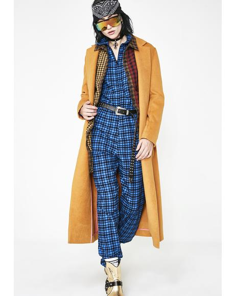 Rebel Girl Plaid Jumpsuit