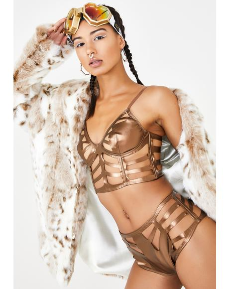 Bronze Skeletoria Cut-Out Bustier