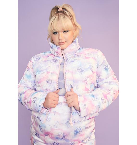 Sugar Thrillz She's On Cloud Nine Puffer Jacket