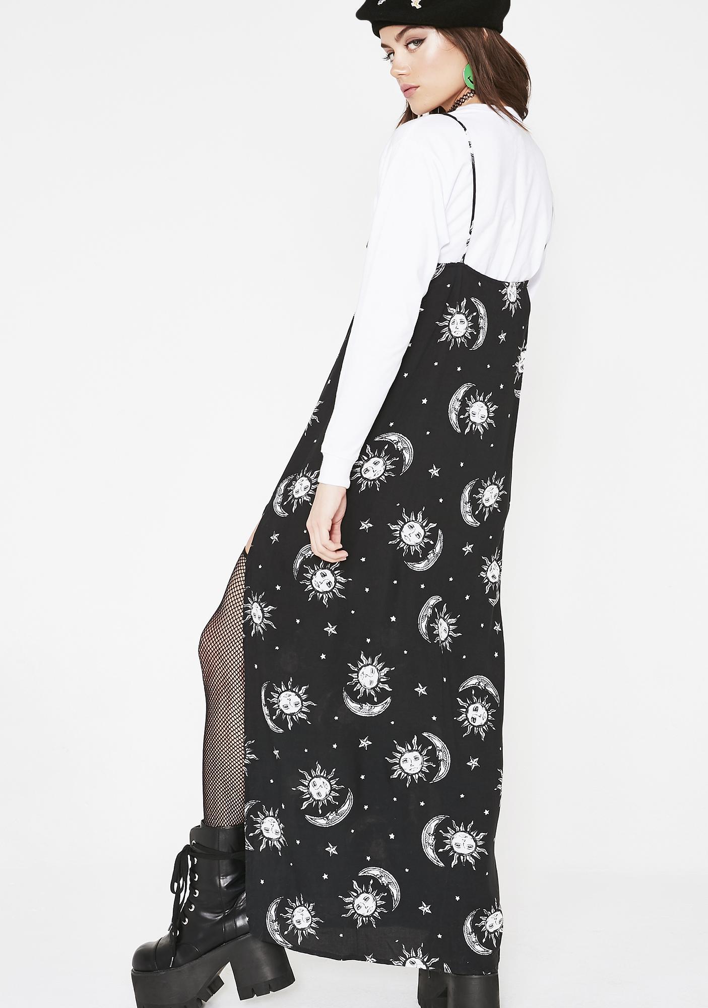 Motel Celestial Batis Maxi Dress