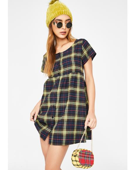 Plaid Skibbie Babydoll Dress