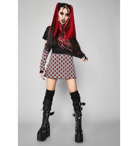 Widow Antisocial Anthem Skirt And Gloves Set