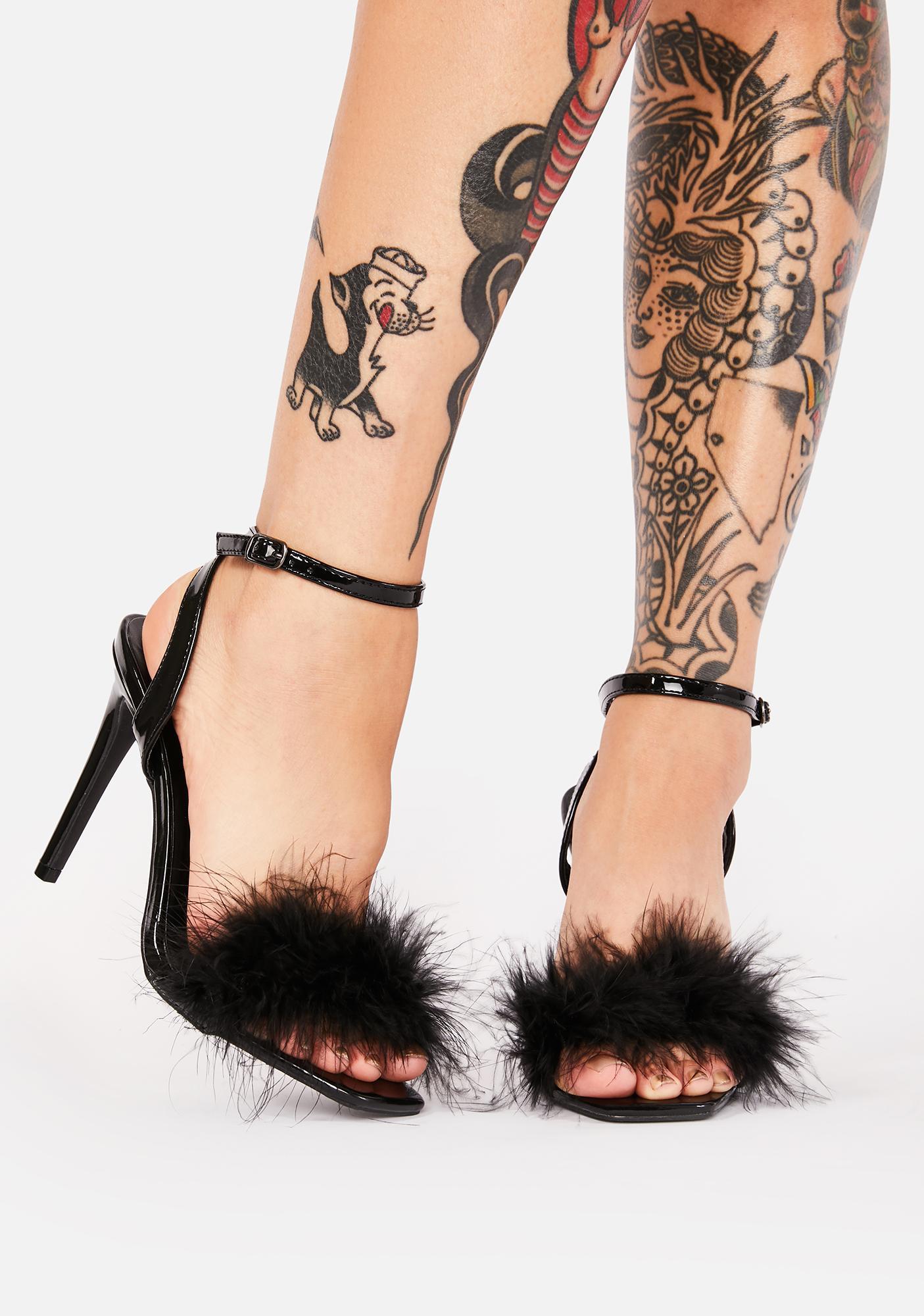 My Baby Marabou Heels