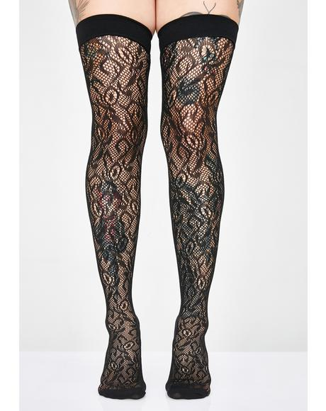 Evil Elixir Lace Thigh Highs