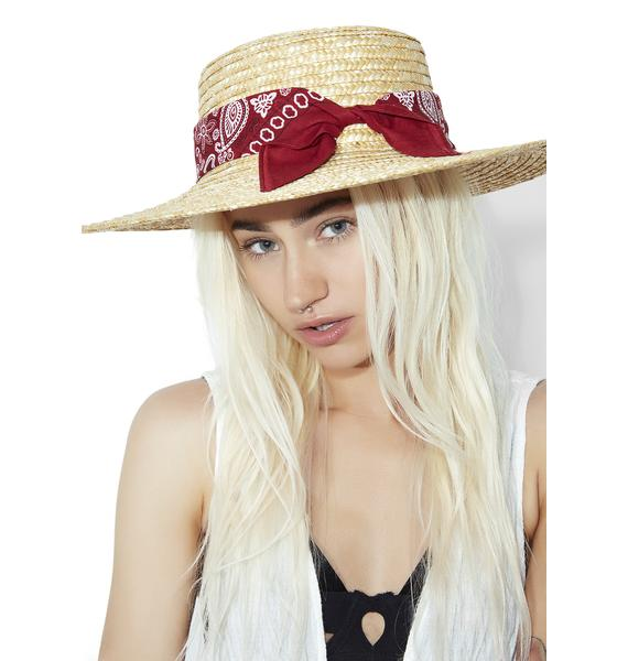 Amber Paisley Alley Wide Brim Hat