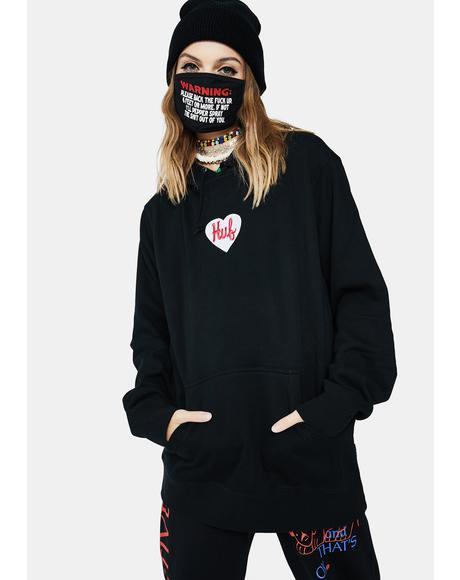 Plastic Heart Pullover Hoodie