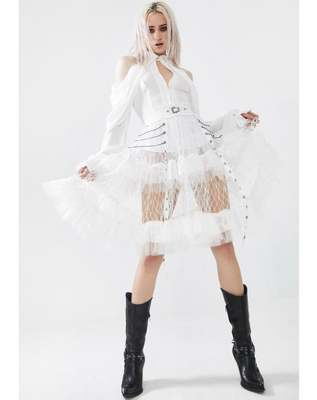 White Lolitas Taboo Cage Skirt